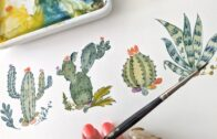 Cactus Tutorial for Beginners I Watercolor Tutorial