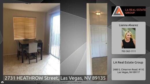 2731 Heathrow Street, Las Vegas, Nevada 89135
