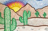 The Art of Mrs. Samsel: Desert Landscape