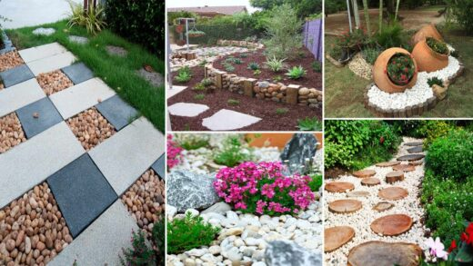 36 Beautiful River Rock Landscaping Ideas To see more Read it | diy garden