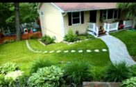 The DIY beautification concept of the front yard
