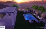 Lush desert garden pool, Trevor Brents