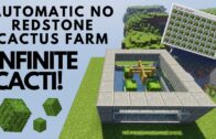 Minecraft 1.17   Easy and automatic redstone-free cactus farm  