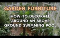 How to decorate around an above-ground swimming pool