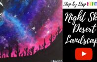 How to draw a desert landscape night sky