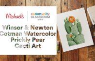 Online Course: Winsor & Newton Cotman Watercolor Cactus Art |