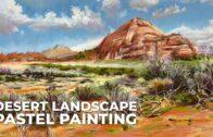 Pastel Landscape Painting-Desert