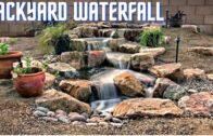 Stunning backyard waterfall