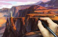 Desert Scenery Speedpaint-Photoshop Mixer Brush