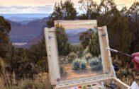Drawing a desert landscape En Plein Air | Oil painting