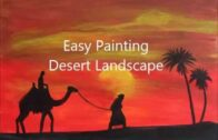 How to draw a desert landscape. Acrylic painting tutorial for