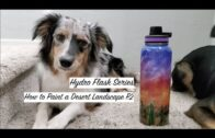 Hydro Flask series: How to draw desert landscape tutorial P.2