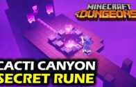 Secret Rune Location of Cactus Canyon   Minecraft Dungeon