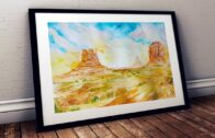 Watercolor Tutorial for Beginners   Draw Monument Valley Sunrise Landscape
