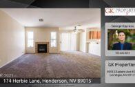174 Herbie Lane, Henderson, Nevada 89015