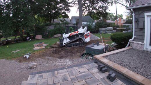 Southfield Brick Paver Patio and Firepit Odd Jobs LLC-Landscape Design
